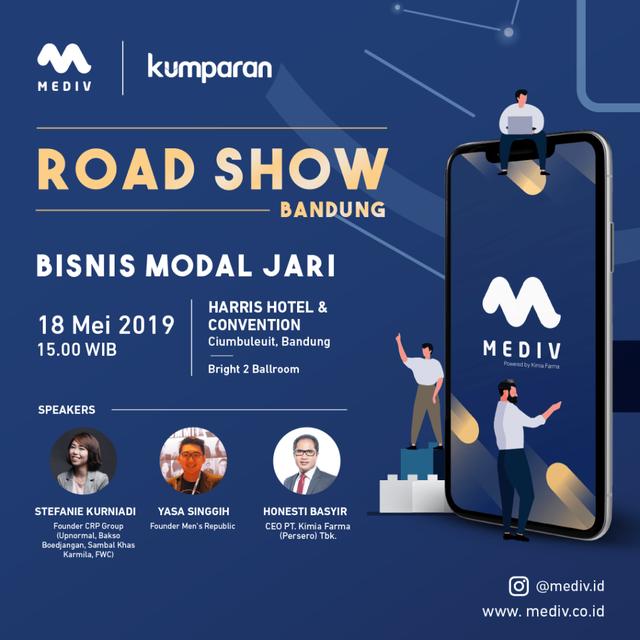 "com-Roadshow Mediv Bandung ""Bisnis Modal Jari""."