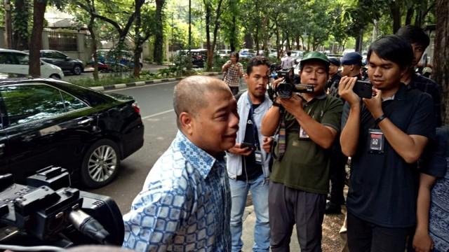 saat tiba di Kediaman Presiden RI ke-5 Megawati Soekarnoputri
