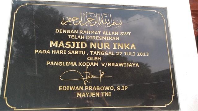 Gatot Nurmantyo Bangun 19 Masjid Pakai Nama Almarhum Anak, 'Nur Inka' (102937)