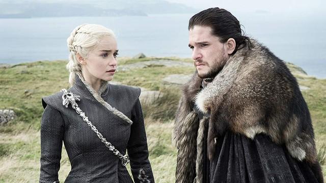 Daenerys Targaryen dan Jon Snow di 'Game of Thrones'