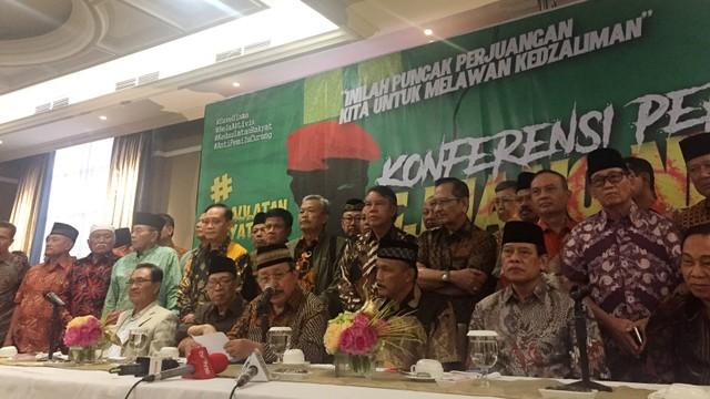 Konferensi pers Purnawirawan Jenderal TNI-Polri pro Prabowo akan Ikut demo 22 Mei