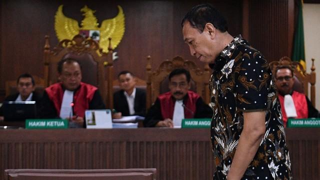 Sekjen Komite Olahraga Nasional Indonesia (KONI) Ending Fuad Hamidy, terdakwa kasus dugaan suap dana hibah KONI, Pengadilan Tipikor, Jakarta