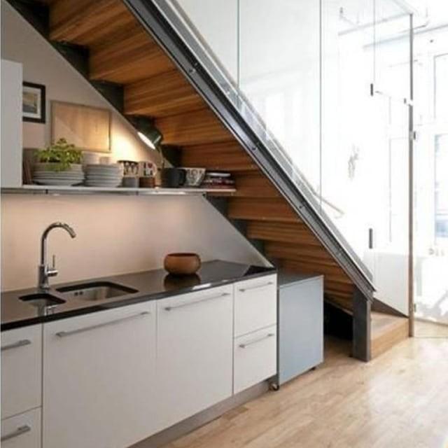 Efisiensi Ruang Ini 6 Desain Kitchen Set Minimalis Bawah Tangga