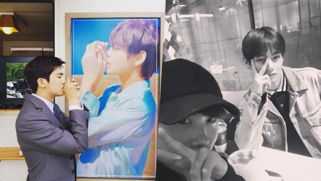 Park Hyung Sik dan V BTS