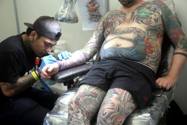 Seniman Tato Luar Negeri Antusias Ikuti Bali Tattoo Expo 2019