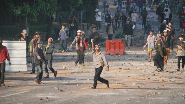 Massa aksi di kawasan Tanah Abang