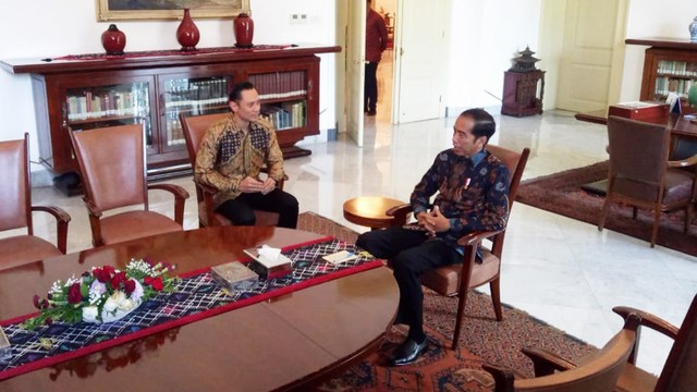 AHY bertemu Jokowi di Istana Bogor