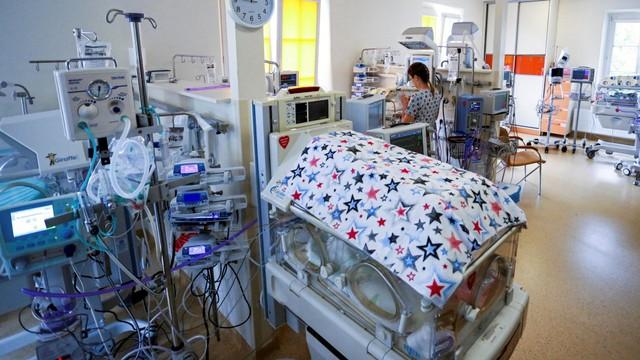 Perawatan bayi kembar enam di RS Polandia.