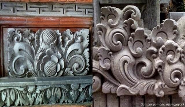Hiasan yang terdapat di rumah adat Bali.jpg