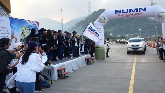 Menteri BUMN Jajal Jalur Mudik Tol Trans Sumatera