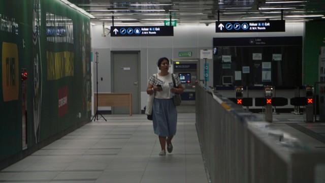 MRT Bundaran HI sudah mulai beroperasi