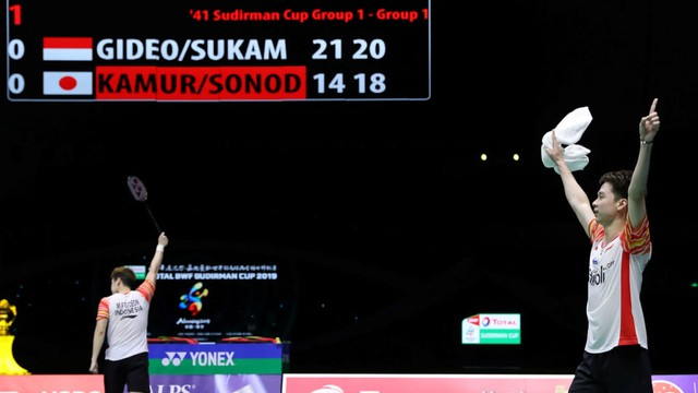 Marcus Fernaldi Gideon/Kevin Sanjaya Sukamuljo, Piala Sudirman 2019