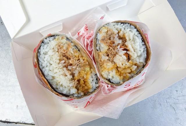 Cakalang burrito.