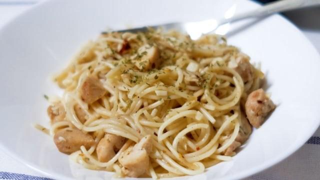 Resep Spaghetti Aglio Olio Chicken Kumparan Com