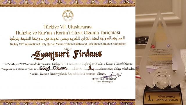 Sosok Syamsuri Firdaus, Pemuda Bima Juara MTQ Internasional di Turki (163039)