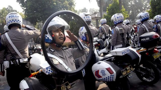 Polisi, Pengamanan jelang lebaran, apel pasukan
