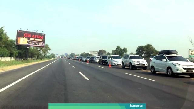 Pantauan lalu lintas Tol Cikampek