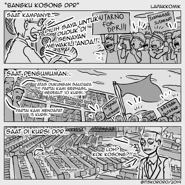 Komik DPR Kosong