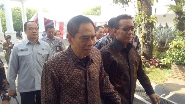 Dipimpin Wiranto,  Para Purnawirawan TNI sambangi Istana Bertemu Jokowi
