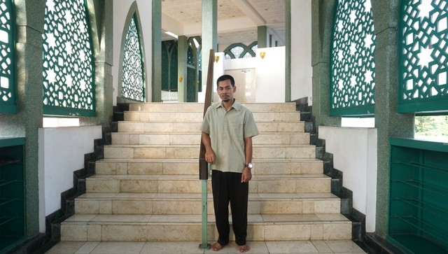 Abdul Latief, muazin Masjid Raya Baitussalam, syuting sinetron Lorong Waktu