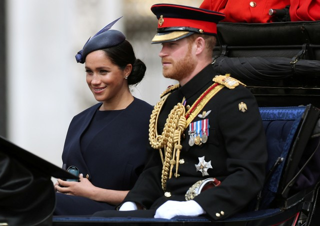 Meghan Markle dan Pangeran Harry di Trooping the Colour