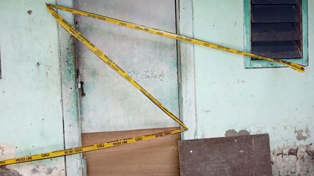 Lokasi kejadian pasangan suami istri meninggal dunia di kos Kupang Gunung Timur