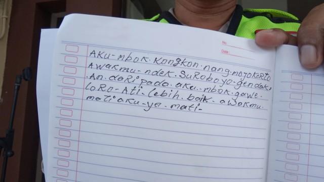 Tulisan Suami sebelum bunuh diri