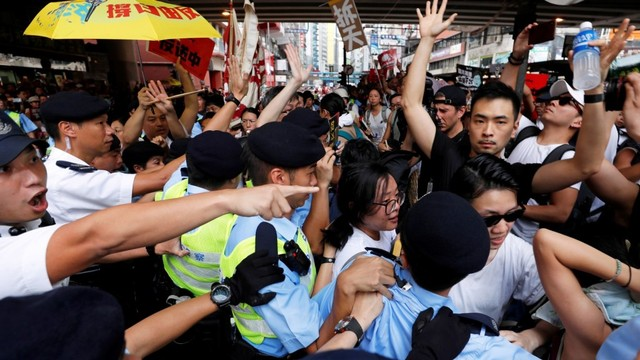 Foto: Lautan Manusia di Hong Kong Menolak RUU Ekstradisi  (740664)