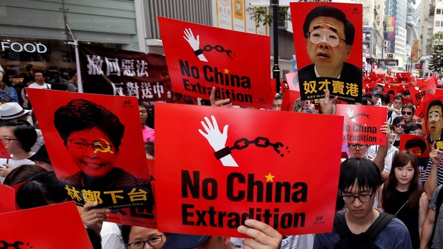 Foto: Lautan Manusia di Hong Kong Menolak RUU Ekstradisi  (740663)