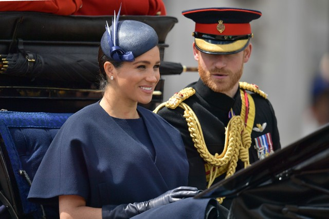 Meghan Markle di Trooping the Colour