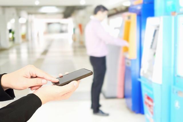 com-Ilustrasi tarik tunai tanpa kartu ATM