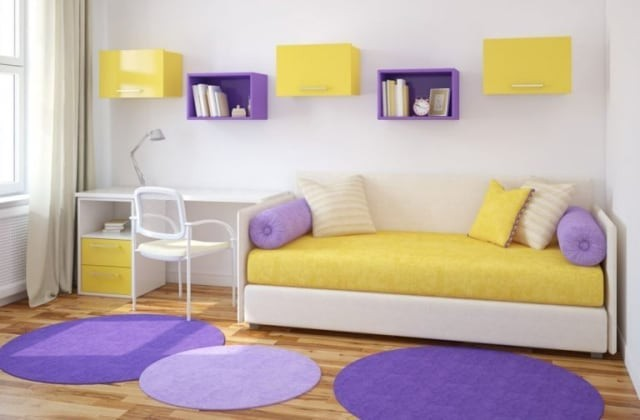 Rumah Minimalis Lantai 2 Nuansa Ungu  berkarakter kuat intip 5 aplikasi warna primer untuk
