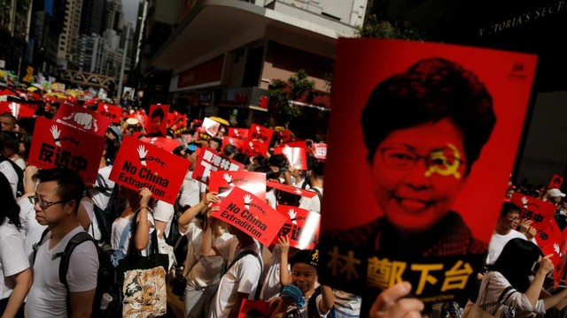 Foto: Lautan Manusia di Hong Kong Menolak RUU Ekstradisi  (740654)