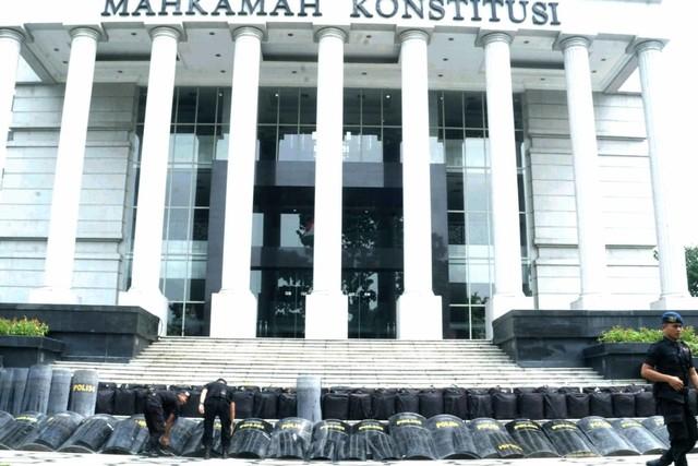 Suasana Pengamanan di Mahkamah Konstitusi
