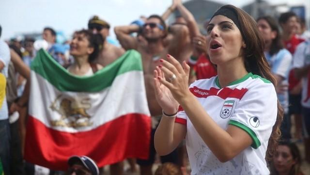 Ilustrasi pendukung wanita Iran, suporter wanita