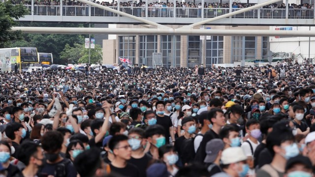 Lautan Massa Kembali Padati Hong Kong, Tolak RUU Ekstradisi (89683)