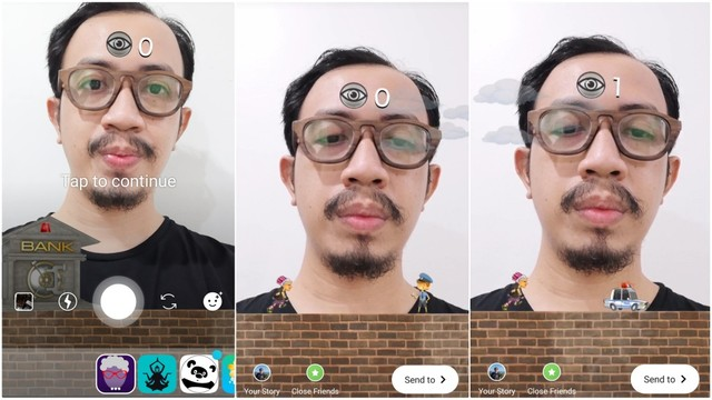 Cara Main Game Lop-lop Mirip Flying Face di Instagram Stories (467439)