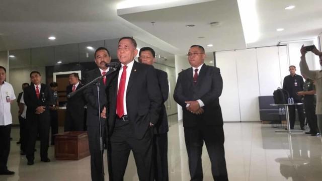 Konferensi pers Menteri Pertahanan, Ryamizard Ryacudu