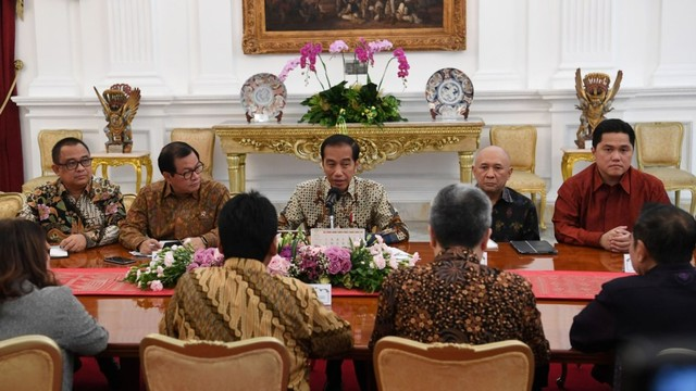 Asosiasi Pengusaha Indonesia (Apindo) bertemu Presiden Joko Widodo, Istana Merdeka