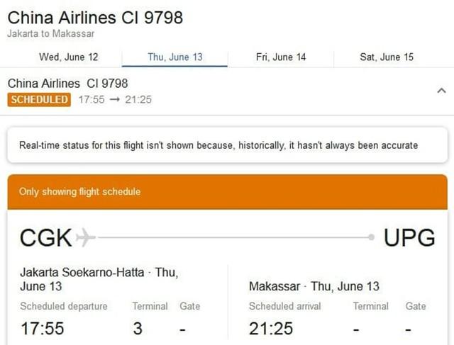 Sejumlah rute penerbangan domestik yang dilayani maskapai China Airlines