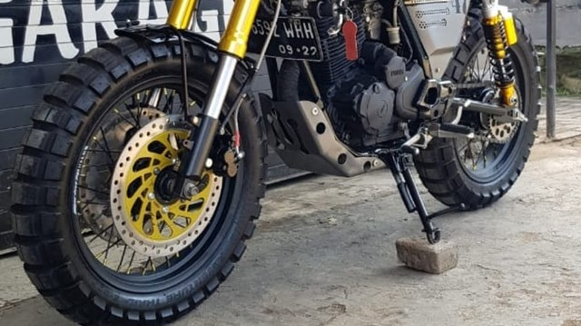 Modifikasi Yamaha Scorpio ala Moge Scrambler, Ongkosnya Berapa?  (135008)