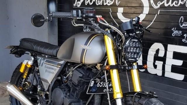 Modifikasi Yamaha Scorpio ala Moge Scrambler, Ongkosnya Berapa?  (135010)