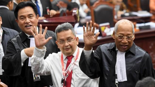 Tri Medya Panjaitan, sidang perdana Perselisihan Hasil Pemilihan Umum (PHPU) sengketa Pilpres 2019,  Mahkamah Konstitusi