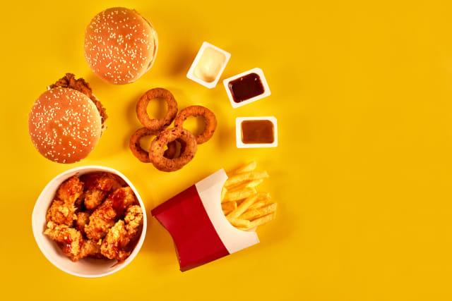 Ilustrasi makanan cepat saji
