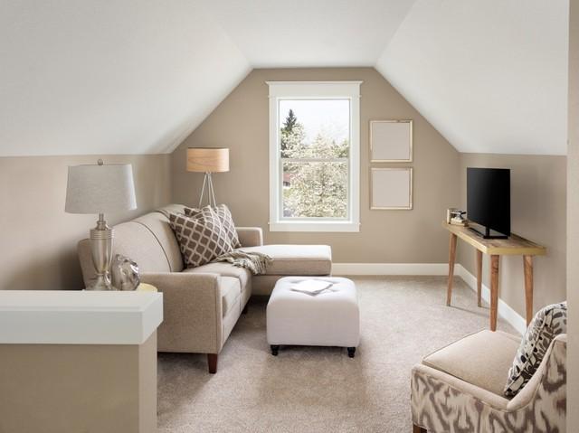 Ilustrasi ruangan kecil dengan warna cerah