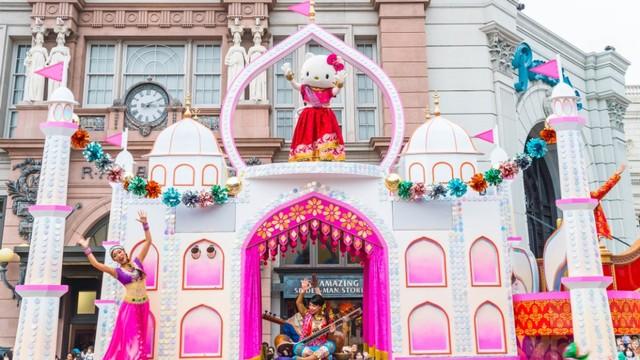 Ilustrasi Hello Kitty Theme Park