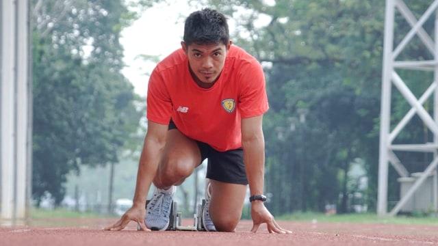 Atlet lari, M Fadlin