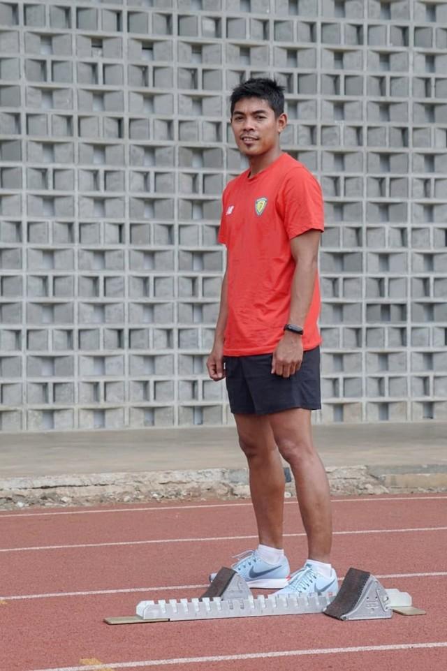 (NOT COVER) Atlet lari, M Fadlin