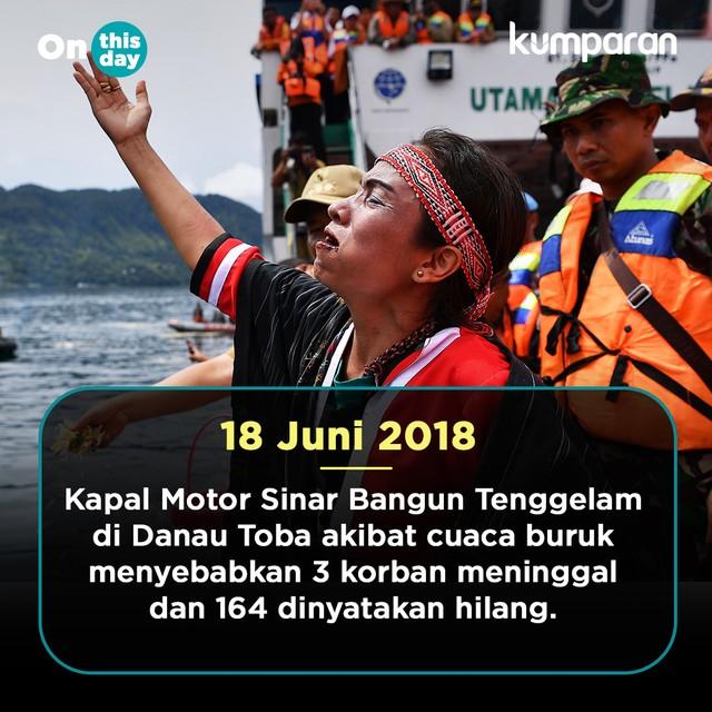 On This Day: Kapal Motor Sinar Bangun Tenggelam
