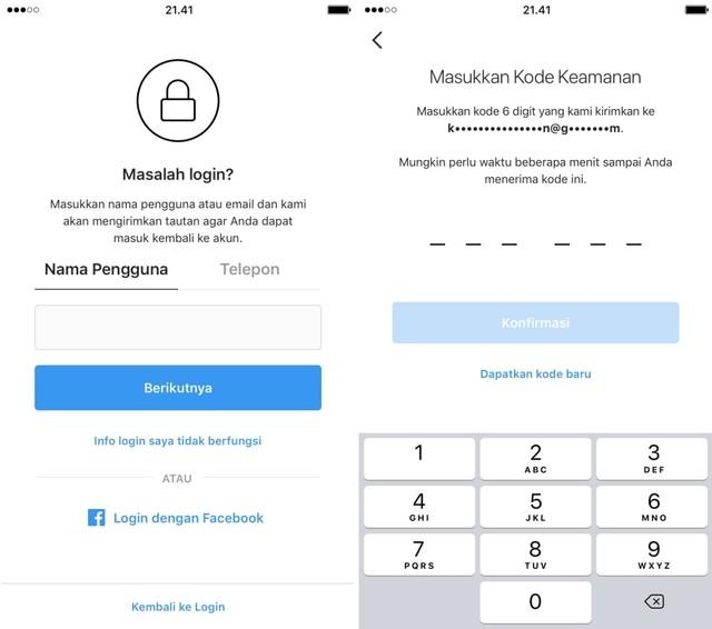Instagram uji cara baru mengembalikan akun yang diretas